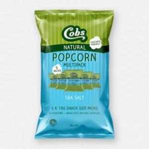 Cobs Pop Corn Sea Salt Multi Pack 5 x 13g packs