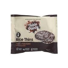 Table of Plenty Dark Chocolate & Coconut Rice Thins 2pk- 30g